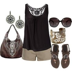 Black and khaki are a hit together in my closet. Summer said it was on its way; it promised me:)