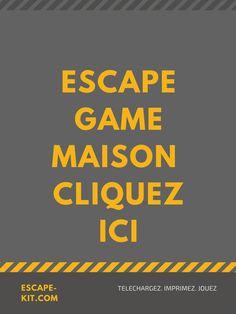 Découvrez comment faire un Escape Game chez soi en moins de 20 minutes Spy Party, Pirate Party, 20 Minutes, Diy Games, Escape Room, Games For Kids, Activities, Centre, Animation
