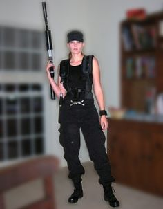 Homemade Sarah Connor Costume from Terminator 2