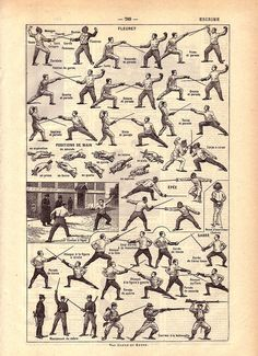 Fencing positions in French Repinned by Hub City Fencing Academy of Edison, NJ.