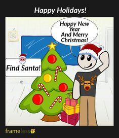 Happy Holidays!   Find Santa!