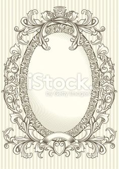 Vector Oval Ornate Frames | Decorative oval frame Royalty Free Stock Vector Art Illustration