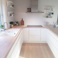 A Guide to Efficient Small Kitchen Design for Apartment: No Longer a Mystery Combination design is just one of the most useful approaches to make the . Galley Kitchen Design, Modern Kitchen Cabinets, Interior Design Kitchen, Kitchen Sink, Home Decor Kitchen, Home Kitchens, Kitchen Ideas, Kitchen World, Kitchen Floor Plans