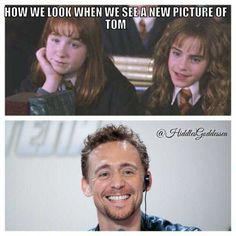 How I look when I see a new picture of Tom Hiddleston...