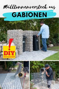Cladding for the garbage can - - Design Jardin, Garden Design, How To Look Pretty, How To Look Better, Le Hangar, Garbage Containers, Garbage Can, Perfect World, Cladding