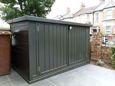 If you have a slope, no problem... we have skirting for that and can cover any gaps! Bike Shed, Outdoor Furniture, Outdoor Decor, Sheds, Bristol, Garage Doors, Yard, Storage, Cover