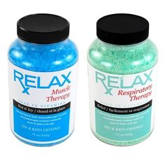 Muscle & Respiratory Rx Therapy Bath Salts, Minerals, & Vitamins - Soak Aches, & Pains in Tub, Spa or Hot Tub - 19 Oz Bottles by Relax Spa & Bath. $26.95. Powerful Aromatherapy with Natural Coloring - Enhances Relaxation - Vitamin Enfused. Skin Softening Moisturizers - For Spas, Hot Tubs, Jacuzzi, & Whirlpool Bath - Spa Safe. Does Not Affect the pH or Water Chemistry - Safe for Children & Pets - Will Not Damage, Stain or Affect Equipment or Surface. Remedy for Aches & ...