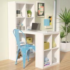 AM+ Studio Hollow Core 12 Cubicle Writing Desk Color: White Desk Storage, Storage Spaces, Craft Storage, Storage Chest, Etagere Cube, Hobby Desk, Desk Redo, Diy Desk, Bean Bag Sofa