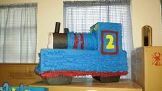Thomas the Train pinata (side view)