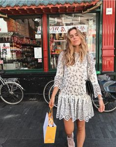Ganni street style | Sophie May | Emilie Lace Dress