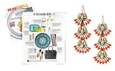 Real Simple - August 2014 featuring the Coral Cay Earrings  by Stella & Dot #stelladotstyle