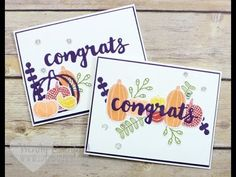 10 Card Designs, 1 Stamp Set feat. Stampin' UP!'s Pick A Pumpkin Stamp Set - YouTube