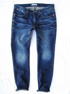 mens jeans Acne model Max True Dark W34 L32 #AcneJeans #ClassicStraightLeg
