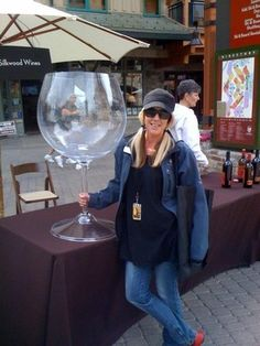 The ultimate #wine glass! Too funny!!  I know some people who would use this.   Not me though   lol