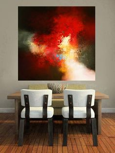Large Canvas Abstract Painting by Artist by SimonkennysPaintings