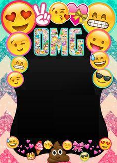 Plantilla invitación Emojis Emoji Invitations, Slumber Party Invitations, Printable Birthday Invitations, Emoji Theme Party, Kitty Party Games, 9th Birthday Parties, 10th Birthday, Emoji Gratis, Emoji Birthday Shirt