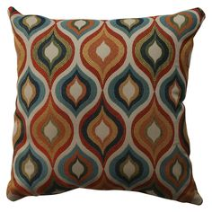 """Incorporate the warm, rich tones of this Flicker Throw Pillow Collection that comes in 4 sizes: 11.5""""x18.5"""", 16.5""""x16.5"""", 18""""x18"""", and 23""""x23"""". The polyester cover can be easily spot cleaned, and it's polyester fill holds its shape and resists an unkept, baggy appearance."""
