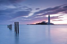 Just love photos of Lighthouses.  This one's from Whitley Bay, England.
