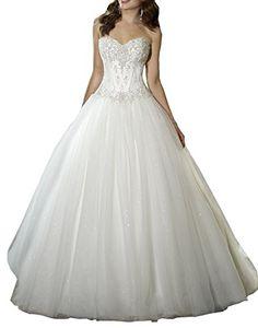 Harshori Sweetheart Beaded Corset Bodice Classic Tulle Wedding Dress 2 Ivory Harshori http://www.amazon.com/dp/B00SY1ULF6/ref=cm_sw_r_pi_dp_mjWcwb05YZ9PG