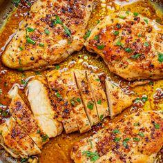 Easy Roasted Chicken Recipe, Garlic Butter Chicken, Chicken Skillet Recipes, Turkey Recipes, Dinner Recipes, Easy Chicken Dishes, Garlic Chicken Recipes, Recipes With Chicken In Them, Recipe With Garlic