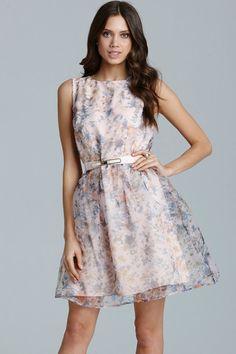 Little Mistress Floral Organza Prom Dress