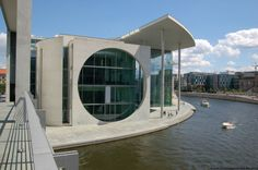 The Bundeskanzleramt (Federal Chancellery). Berlin, Germany. Built in 2001 by German architects Axel Schultes and Charlotte Frank.