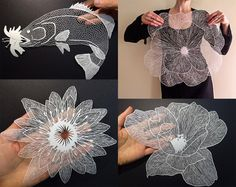 Incredible ...New Delicate Cut Paper Flowers by Maude White