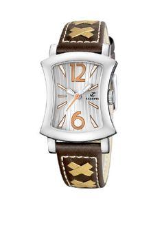 Calypso Women's K5198/2 Correa Moda White Dial brown Strap Watch -