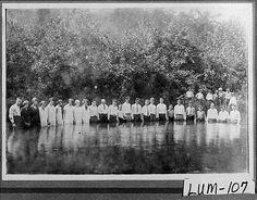 Catoosa County, GA, 1927. Baptismal ceremony at Mount Pisgah. Vanishing Georgia Collection, Georgia Archives