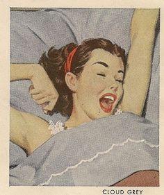 Sleepytime (via ondiraiduveau) Vintage Girls, Vintage Ads, Vintage Images, Vintage Prints, Vintage Posters, Pin Up Retro, Retro Art, Illustrations, Illustration Art