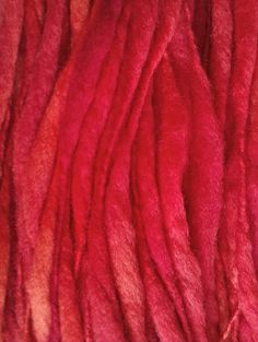 Cherry berry thick and thin Hand spun hand by misterstiltskin, $15.00