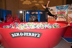 <p> The focal point of the activation was a giant branded ball pit made to resemble a colorful bowl of...