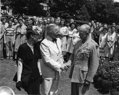 President Harry S. Truman presenting Distinguished Service Medal to General Dwight Eisenhower, June 18, 1945.