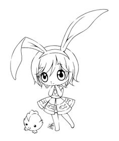 DeviantArt: More Like suki. by sureya Chibi Coloring Pages, Coloring Book Pages, Colorful Drawings, Easy Drawings, Anime Lineart, Creation Art, Digi Stamps, Illustrations, Pictures To Draw