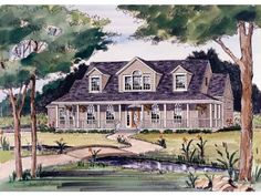 Farmhouse House Plan with 2245 Square Feet and 3 Bedrooms(s) from Dream Home Source   House Plan Code DHSW32220
