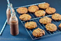 Banana, Oat & Walnut Chocolate Chip Cookies