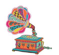 Gramophone Nostalgia for Chumbak on Behance Madhubani Art, Madhubani Painting, Art And Illustration, Pattern Illustration, Kitsch Art, Rajasthani Art, Indian Folk Art, Indian Art Paintings, Truck Art