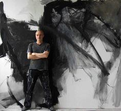 artist Piotr Strelnik in his studio