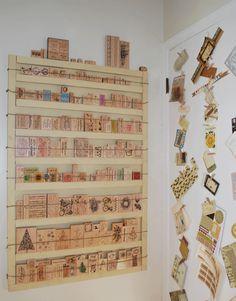 stamp storage shelf