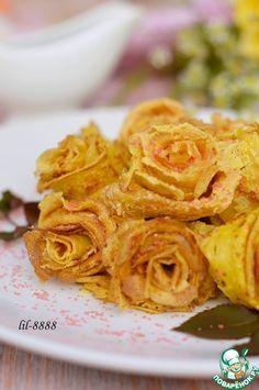 """Блинные """"Розы"""" - кулинарный рецепт"""