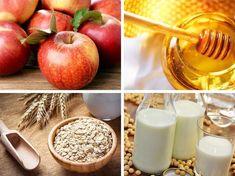 Panqueques de avena y manzanas- ingredientes