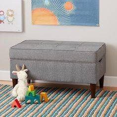 Upholstered Tufted Bench With Legs | The Land of Nod