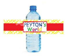 Elmos World Sesame Street themed Water Bottle Labels - Customized Digital File