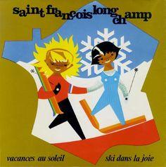 SAINT-FRANCOIS LONGCHAMP - vieux dépliants, brochures et plans des pistes de ski et remontées