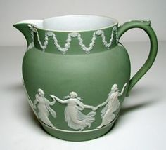 Jug with Dance of the Hours Design, Wedgwood, not dated, jasper ware  6 in. Currier Museum of Art.