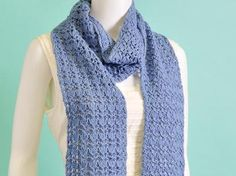 Reversible Rib and Lace Scarf - Free Pattern Available