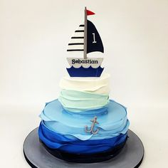 Nautical first birthday cake!