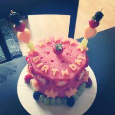 It's a fresh fruit cake!