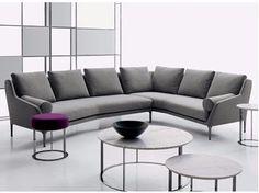 Corner sectional fabric sofa ÉDOUARD | Corner sofa - B&B Italia