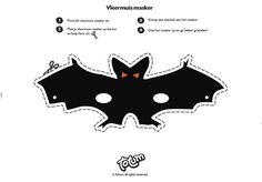 Printable - Halloween - Masker - Mask - Bat - Knutselen - Crafting